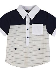 ボーイの コットン シャツ,ストライプ 夏