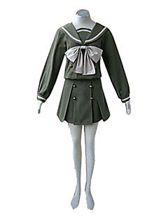 """billige Anime cosplay-Inspirert av Shakugan no Shana Shana Anime  """"Cosplay-kostymer"""" Cosplay Klær Skoleuniformer Lapper Langermet Topp Skjørte Bånd Til Dame"""