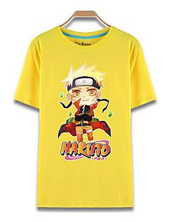 """billige Anime Kostymer-Inspirert av Naruto Naruto Uzumaki Anime  """"Cosplay-kostymer"""" Cosplay T-skjorte Trykt mønster Kortermet Topp Til Herre"""