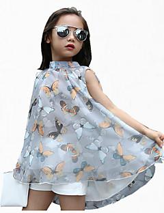 Mädchen Kleid Ausgehen Blumen Polyester Sommer Kurzarm