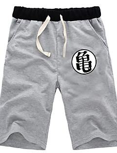 """Inspirert av Dragon Ball Muten Roshi Anime  """"Cosplay-kostymer"""" Cosplay Topper / Underdele Ensfarget Shorts Til Mann"""