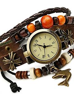 billige Armbåndsure-Dame Digital Armbåndsur Afslappet Ur Læder Bånd Bohemisk / Mode Brun