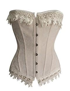 billige Plus Størrelser-Lingeri-yuiye® beige kvinder gothic corsets talje træning korsetter og bustiers espartilho talje cincher corset