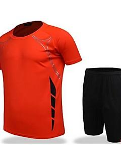 tanie Koszulki piłkarskie i szorty-Męskie Piłka nożna Koszulka + spodenki Zestawy odzieży/Garnitury Oddychający Quick Dry Wiosna Lato Jesień Zima Klasyczny TeryleneFitness