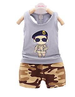 nouveaux enfants de vêtements d'été, costume garçon, costume enfants de coton, les garçons de bébé vêtements doux