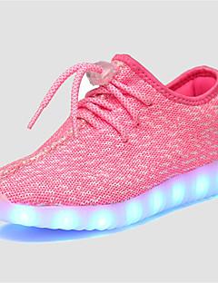 hesapli -Spor Ayakkabısı-Rahat-Rahat Ayakkabı Light Up-Tül-Düz Topuk-Yeşil Pembe Gri Navy Mavi-Kız Çocukları