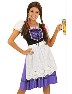 billige Halloweenkostymer-Oktoberfest Cosplay Kostumer Party-kostyme Dame Halloween Oktoberfest Festival / høytid Halloween-kostymer Drakter Lapper