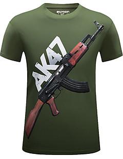 billige Herre Toppe-Herre Trykt mønster Sport T-shirt Bomuld