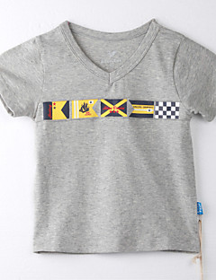 ボーイの コットン Tシャツ,プリント 夏
