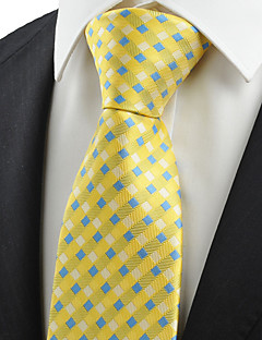 KissTies Men's New Cross Checked Pattern Microfiber Tie Necktie Wedding Party With Gift Box (5 Colors Available)