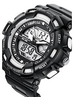 billige Digitalure-SANDA Herre Quartz Digital Japansk Quartz Digital Watch Sportsur Alarm Kalender Vandafvisende Stopur Dobbelte Tidszoner LCD Selvlysende
