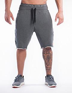 billiga Träning-, jogging- och yogakläder-Herr Joggingshorts - Svart, Grå sporter Shorts Fitness, Gym, Träna Sportkläder Andningsfunktion, Bekväm, Svettavvisande Elastisk