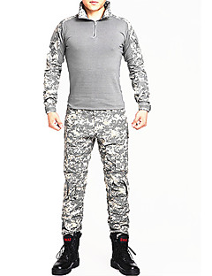 Camouflage Hunting T-shirt Quick Dry Wearable Breathable Shockproof Men's Women's Unisex Long Sleeves Sports Camouflage T-shirt Pants /
