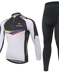 billige Sett med sykkeltrøyer og shorts/bukser-KEIYUEM Dame Kortermet Sykkeljersey med tights - Svart Britisk Geometrisk Sykkel 3D Pute, Vanntett, Fort Tørring, Anatomisk design,