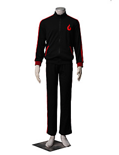 """billige Anime cosplay-Inspirert av Naruto Boruto Anime  """"Cosplay-kostymer"""" Cosplay Klær Ensfarget Langermet Frakk Bukser Til Mann"""