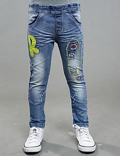 Menino de Calças / Jeans,Casual Bordado Algodão Inverno / Todas as Estações / Primavera / Outono Azul