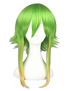 Cosplay Parykker Vokaloid Gumi Grønn Medium Anime Cosplay Parykker 45 CM Varmeresistent Fiber Mann / Kvinnelig