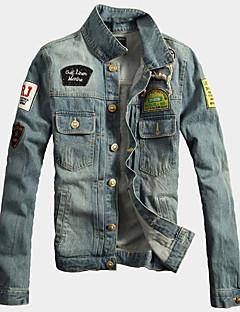 cheap Men's Jackets & Coats-Men's Fashion Cool Denim Jacket