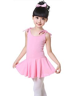 billige Ballettantrekk-Ballett Kjoler Trening Bomull Sløyfe(r) Ermeløs Naturlig Kjole