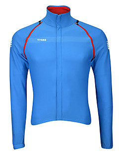 Спорт Велоспорт Верхняя часть Муж. Длинные рукава Дышащий / Пригодно для носки / С защитой от ветра / Сохраняет тепло / Ультралегкая ткань