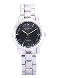 billige Høj kvalitet-REBIRTH Dame Quartz Armbåndsur / Hot Salg Legering Bånd Afslappet Elegant Mode Sølv