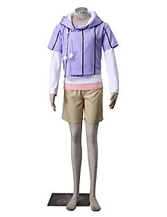 """Inspirert av Naruto Hinata Hyuga Anime  """"Cosplay-kostymer"""" Cosplay Klær Ensfarget Langermet Frakk T-Trøye Shorts Til Kvinnelig"""