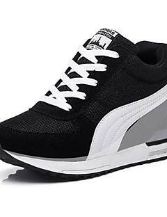 Spor Ayakkabısı-Rahat Atletik-Rahat-Tül-Dolgu Topuk-Siyah Mavi Kırmızı-Kadın