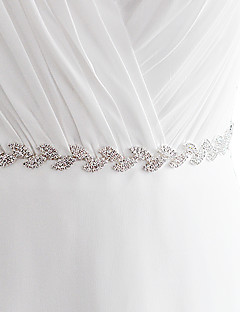 cheap Weekly Special-Satin Wedding Party / Evening Dailywear Sash With Rhinestone Beading Women's Sashes