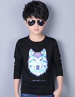 Jungen T-Shirt / Anzug & Blazer-Lässig/Alltäglich Druck Baumwolle Ganzjährig / Frühling / Herbst Schwarz / Blau / Weiß