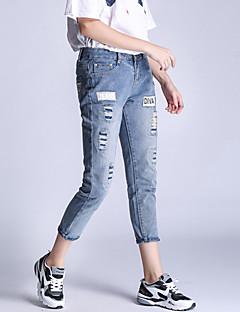 preiswerte Zerrissen-Damen Übergrössen Jeans Hose - Patchwork