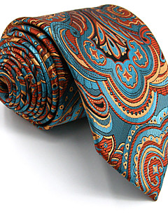New Men's Necktie Tie Blue Floral 100% Silk For Men Wedding Business Fashion Extra Long