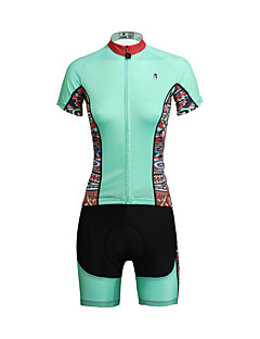 cheap Cycling Jersey & Shorts / Pants Sets-ILPALADINO Cycling Jersey with Shorts Women's Short Sleeves Bike Clothing Suits Quick Dry Ultraviolet Resistant Breathable Back Pocket