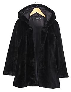 Χαμηλού Κόστους -Γυναικεία Γούνινο παλτό Βασικό - Μονόχρωμο, Μοντέρνο Στυλ / Αγνό Χρώμα