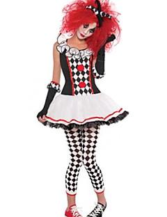 billige Voksenkostymer-Zombie Vampyrer Burlesk / Klovn Cosplay Kostumer Dame Jul Halloween Karneval Festival / høytid Halloween-kostymer Drakter Vintage