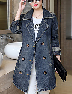 Women's Going out Casual/Daily Casual Spring Fall Denim Jacket