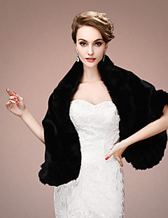 cheap -Sleeveless Faux Fur Wedding Party Evening Women's Wrap With Tiered Shawls