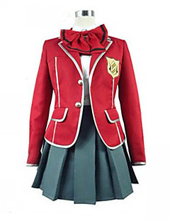 cheap Anime Cosplay-Inspired by Guilty Crown Inori Yuzuriha Anime Cosplay Costumes Cosplay Suits School Uniforms Patchwork Long Sleeves Coat Blouse Skirt