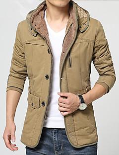 男性用 レギュラー パッド入り コート,コットン プレイン 長袖