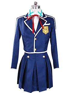 """billige Anime Kostymer-Inspirert av Sword Art Online Asuna Yuuki Anime  """"Cosplay-kostymer"""" Cosplay Klær Lapper Langermet Frakk Genser Skjørte Emblem Til"""