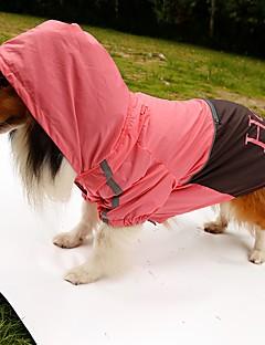 billiga Hundkläder-Hund Regnjacka Hundkläder Bokstav & Nummer Orange Gul Grön Rosa Nylon Kostym För husdjur Herr Dam Vattentät