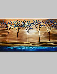 baratos Paisagens Abstratas-mintura® pintados à mão abstrata árvore paisagem pintura a óleo sobre tela arte da parede com moldura esticada pronto para pendurar