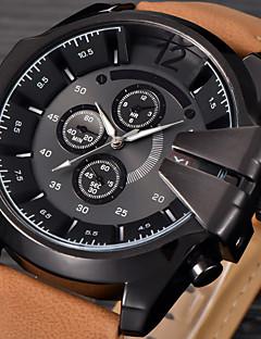 Pánské Módní hodinky Náramkové hodinky Sportovní hodinky Vojenské hodinky Hodinky k šatům Křemenný Kalendář Punk Kůže Kapela Vintage Na