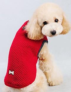 billiga Hundkläder-Katt / Hund Tröjor / Väst Hundkläder Enfärgad Röd / Blå Cotton Kostym För husdjur Herr / Dam Ledigt / vardag / Håller värmen