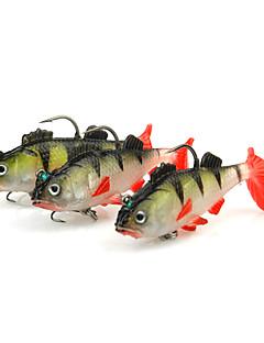 """3 個 ルアー Jig Head Shad ソフトJerkbaits レッド グラム/オンス,65 mm/2-5/8"""" インチ,ソフトプラスチック 海釣り スピニング ジギング 川釣り バス釣り ルアー釣り 一般的な釣り"""