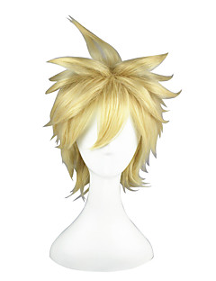 billiga Anime/Cosplay-peruker-Cosplay Peruker Toaru Kagaku no Railgun Liberta Animé Cosplay-peruker 35 CM Värmebeständigt Fiber Herr Dam