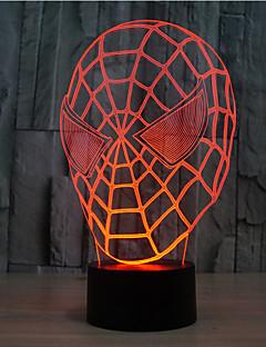 baratos Luzes de presente-toque de homem-aranha escurecendo luz led 3d iluminada luz de decoração de decoração 7color decoração da lâmpada novidade