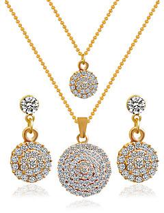 preiswerte Hochzeiten & Feste-Damen Schmuck-Set Ohrringe / Halsketten - Golden Braut-Schmuck-Sets Für Hochzeit