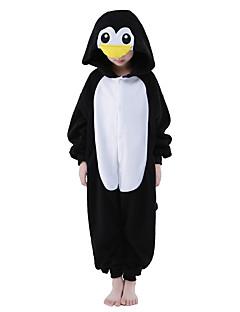 billige Kigurumi-Kigurumi-pysjamas Pingvin Onesie-pysjamas Kostume Polar Fleece Svart/Hvit Cosplay Til Barne Pysjamas med dyremotiv Tegnefilm Halloween
