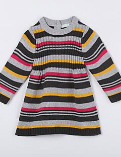 女の子の カジュアル/普段着 ストライプ コットン,セーター&カーデガン 秋 グレー