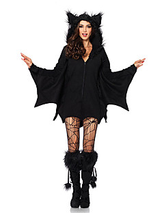 billige Halloweenkostymer-Vampyrer Cosplay Kostumer Party-kostyme Maskerade Dame Halloween Festival / høytid Halloween-kostymer Drakter Svart Ensfarget